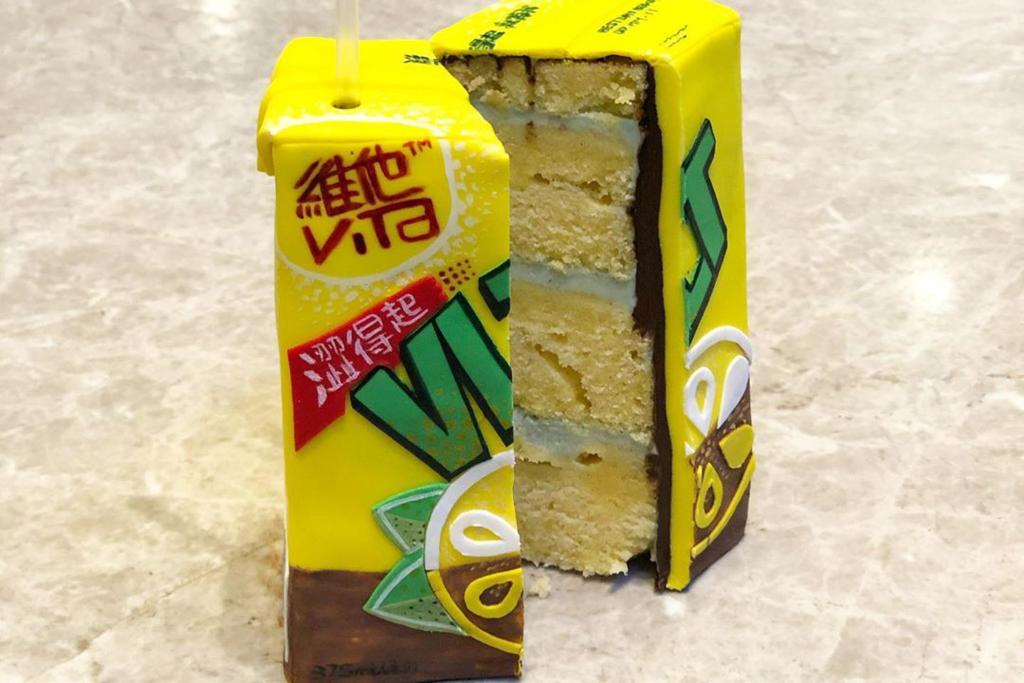 【立體蛋糕 香港】本地烘焙達人自製香港特色超像真立體蛋糕 港式奶茶/燒賣/熱浪薯片造型蛋糕