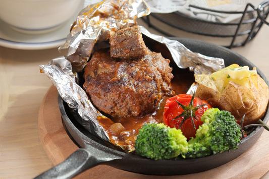 【灣仔美食】日式洋食屋鐵板和牛漢堡扒 灣仔Grill Tajimaya