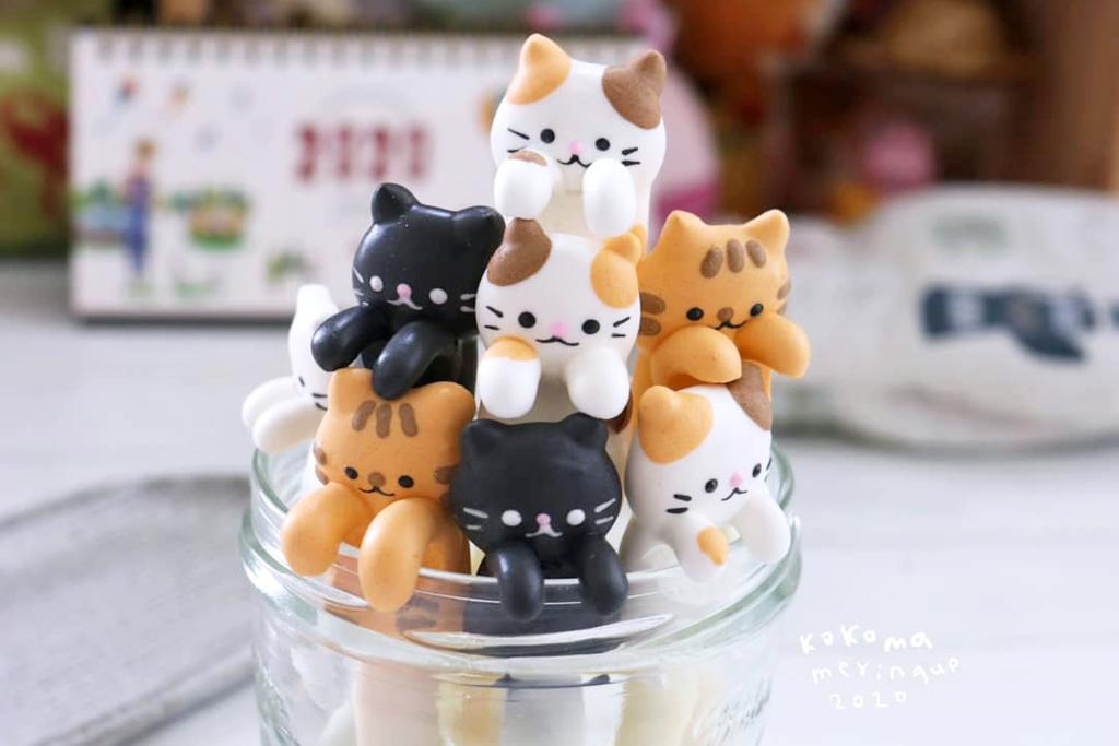 【甜品食譜】睇得又食得嘅貓貓造型匙羹! 唧出可愛小貓蛋白餅