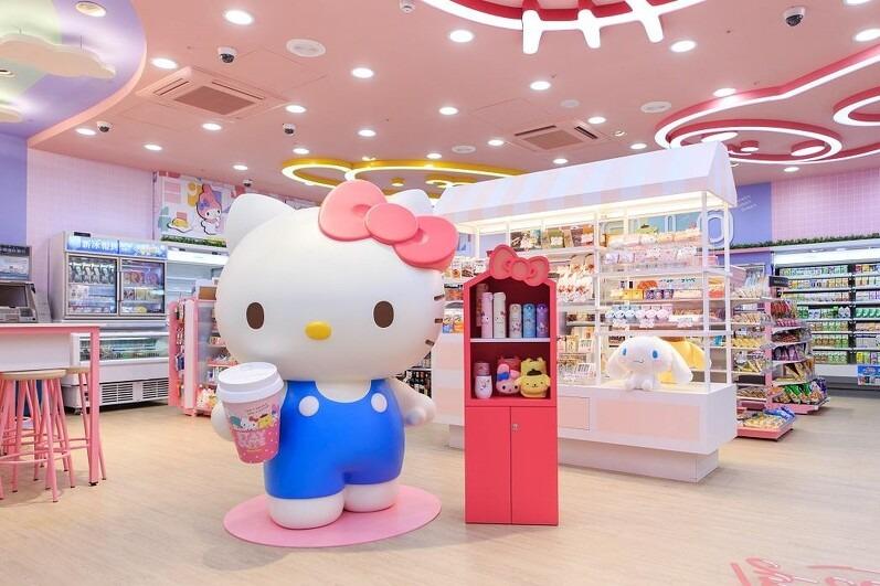 【台灣便利店】忠粉必去!台北711開設全球首間Sanrio主題便利店 卡通角色造型產品/多個打卡位