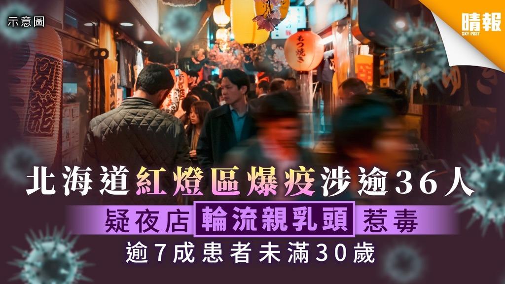【新冠肺炎.日本疫情】北海道紅燈區爆疫涉逾36人 疑夜店輪流親乳頭惹毒 逾7成患者未滿30歲