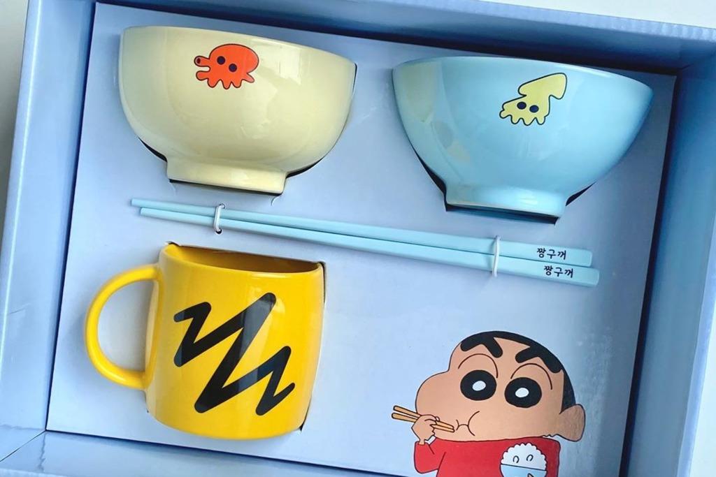 【蠟筆小新精品】韓國精品店神還原《蠟筆小新》同款餐具 有齊飯碗/湯碗/馬克杯/筷子