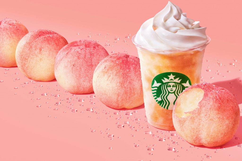 【日本Starbucks】日本Starbucks再推消暑飲品 白甜多汁白桃星冰樂!