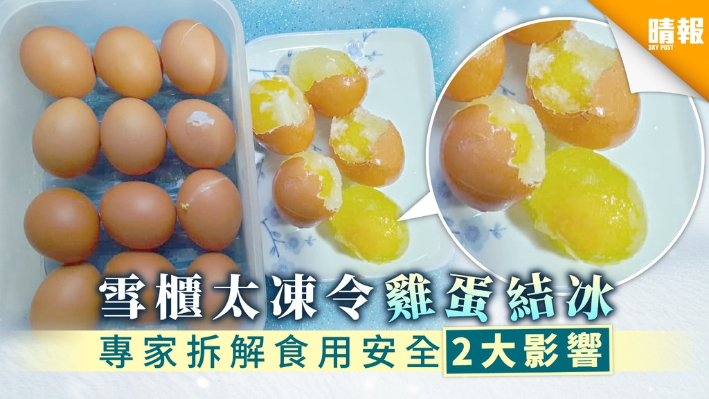 【雞蛋保存】雪櫃太凍令雞蛋結冰 專家拆解食用安全2大影響