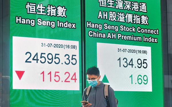 7月先高後低 僅升168點 8月料波動新經濟股受捧