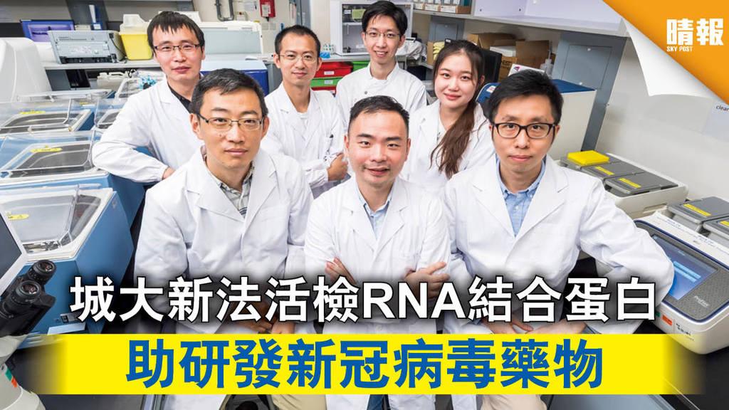 【新冠肺炎】城大新法活檢RNA結合蛋白 助研發新冠病毒藥物