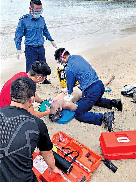 泳灘關照落水 62歲翁遇溺不治