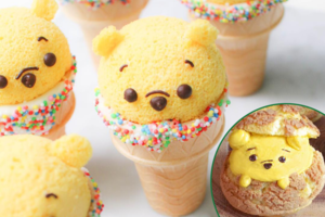 【Winnie the Pooh 蛋糕】迪士尼官方教整小熊維尼甜品 Pooh Pooh小熊維尼蛋糕/卡通雪條/蜂蜜泡芙
