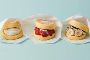 【日本甜品 東京】日本FLIPPER'S甜品店新出梳乎厘班戟漢堡 士多啤梨/香蕉朱古力/牛乳忌廉味