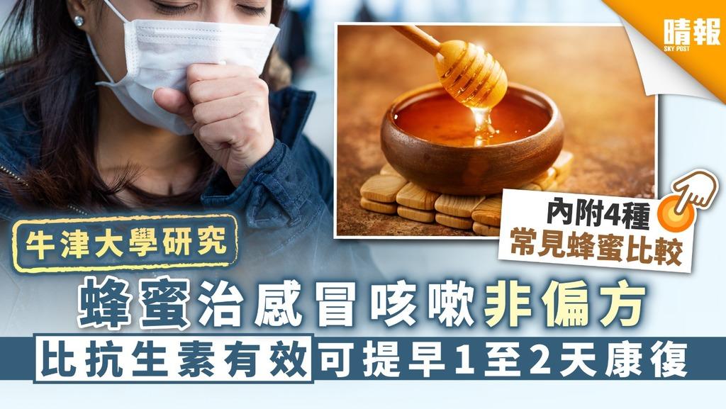 【牛津大學研究】蜂蜜治感冒咳嗽非偏方 比抗生素有效可提早1至2天康復【內附4種常見蜂蜜比較】