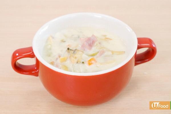 【周打蜆湯】3步簡易完成足料酥皮湯  超Creamy周打海鮮湯食譜