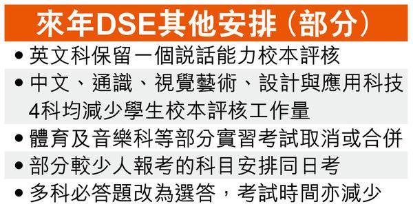 明年DSE筆試4.23始開考 口試再取消