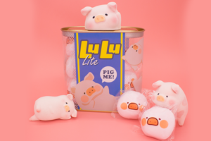 【Lulu豬香港】Lulu豬棉花糖朱古力/提子味 可愛豬仔罐頭包裝粉絲必收藏!