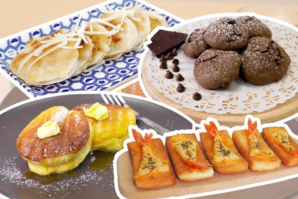 【小食食譜】6款簡單零失敗派對小食食譜推介  日式梳乎厘班戟/蝦多士/流心芝士薯波/芝士月亮蝦餅