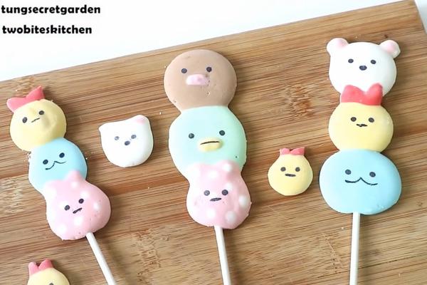【卡通食譜】簡單自製可愛卡通甜品食譜 超得意角落生物棉花糖