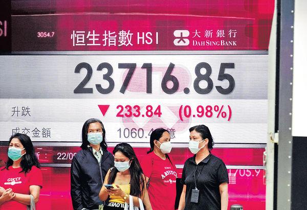 創逾3月低位 兩日累挫738點 港股陷下跌通道未宜入市