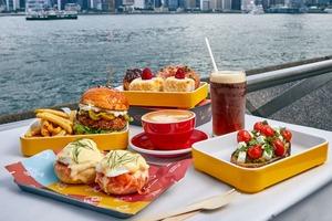 【尖沙咀美食】尖沙咀露天海傍餐廳Ink新推出週末早午餐!班尼迪蛋/牛油果多士/自家製雪糕