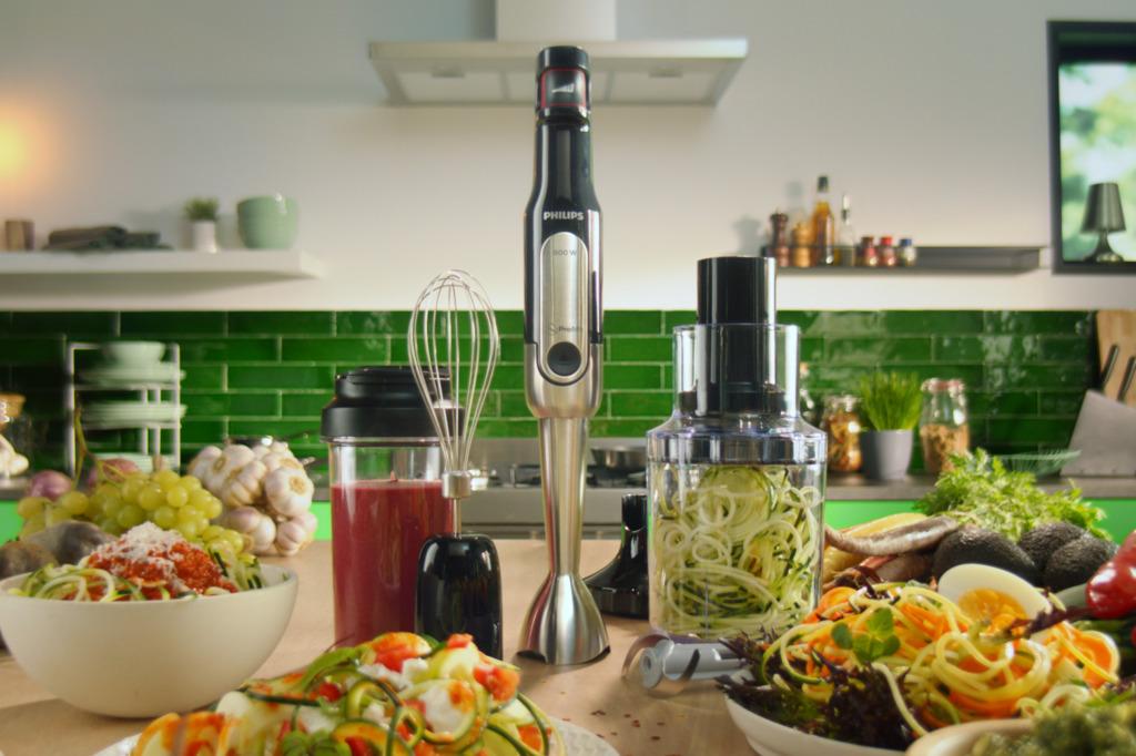 【廚具用品】Philips飛利浦推出全新ProMix多功能手提攪拌機  自製高纖蔬果麵/攪拌/碎肉/攪拌速度快30%!