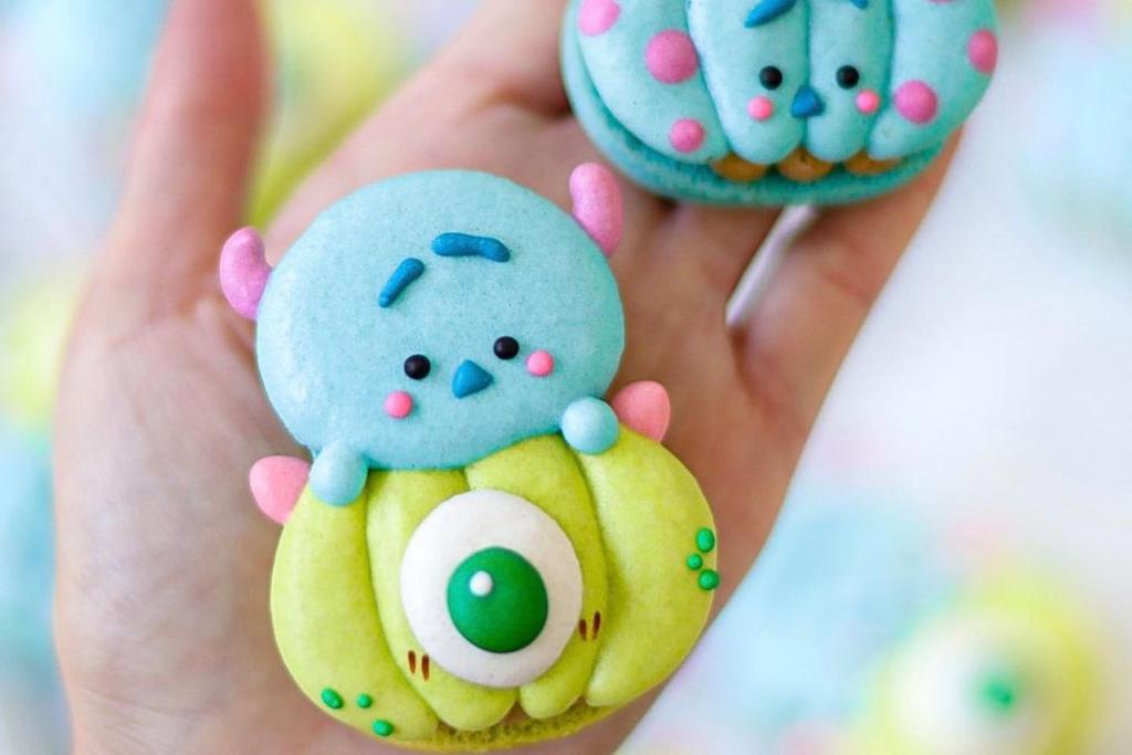 【卡通甜品】迪士尼怪獸公司卡通馬卡龍甜品 可愛大眼仔/毛毛Macarons
