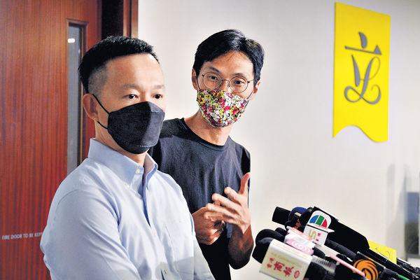 陳志全朱凱廸去信秘書處 通知不續任議員