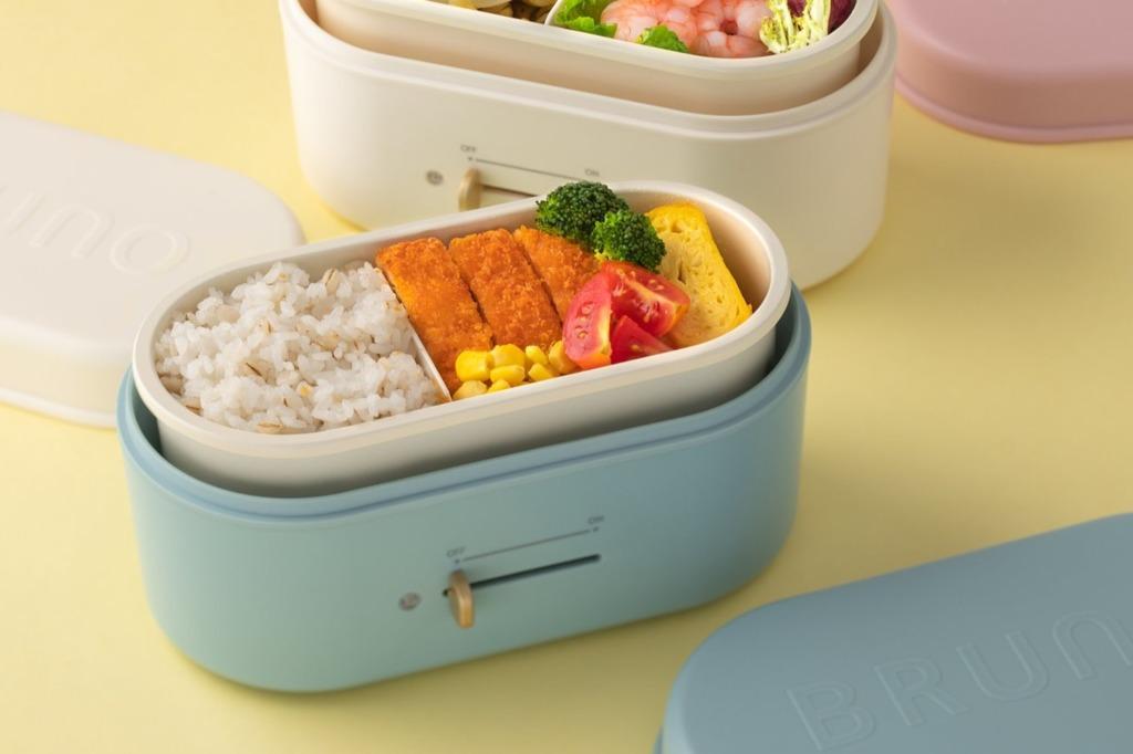 【加熱飯盒】Lunch Time免排隊!BRUNO全新便攜電熱飯盒Lunchbox Warmer  輕巧方便/陶瓷塗層內膽/3款粉嫩色系/另可保冷