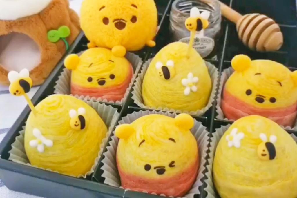 【Winnie the Pooh】Pooh Pooh主題中秋節甜品 自製可愛小熊維尼蛋黃酥 內有紅豆餡!