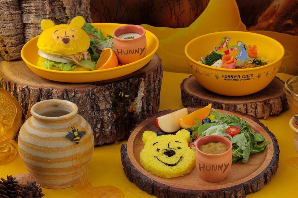 【小熊維尼Cafe】東京新開Winnie the Pooh主題限定Cafe 超可愛造型漢堡包/咖哩飯等多款美食!