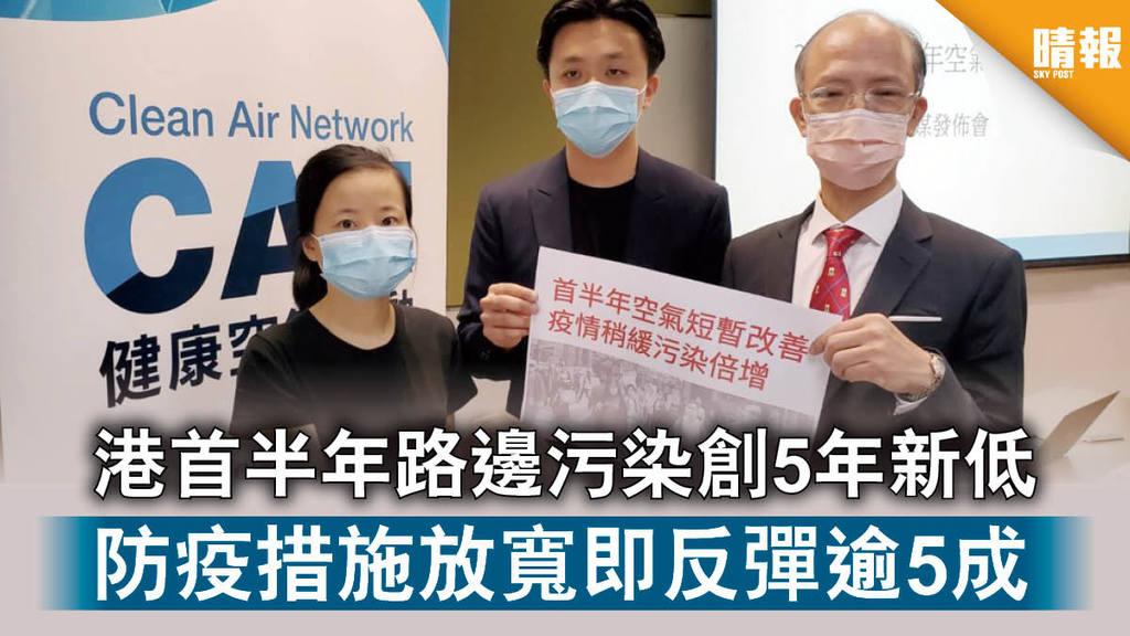 【空氣污染】港首半年路邊污染創5年新低 防疫措施放寬即反彈逾5成