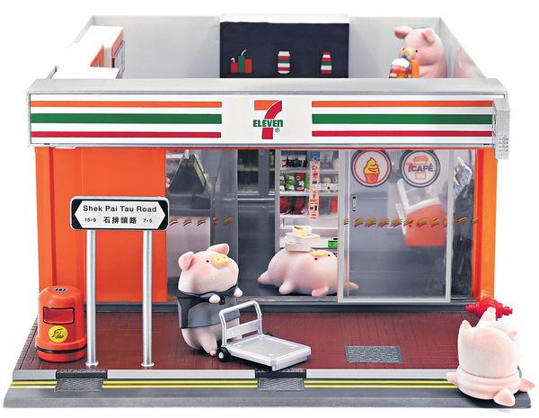 7仔、TINY微影聯乘LuLu豬 推迷你便利店模型