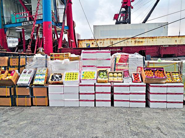 海關截$2000萬走私食物 首發現躉船走私水果