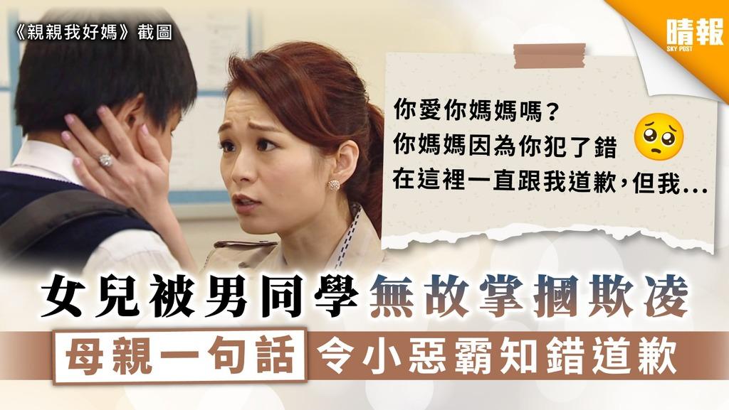 【育兒之道】女兒被男同學無故掌摑欺凌 母親一句話令小惡霸知錯道歉