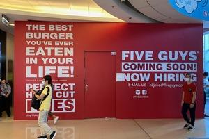 【觀塘美食】美國人氣漢堡店Five Guys第5間分店即將登陸觀塘apm!預計2021年開業