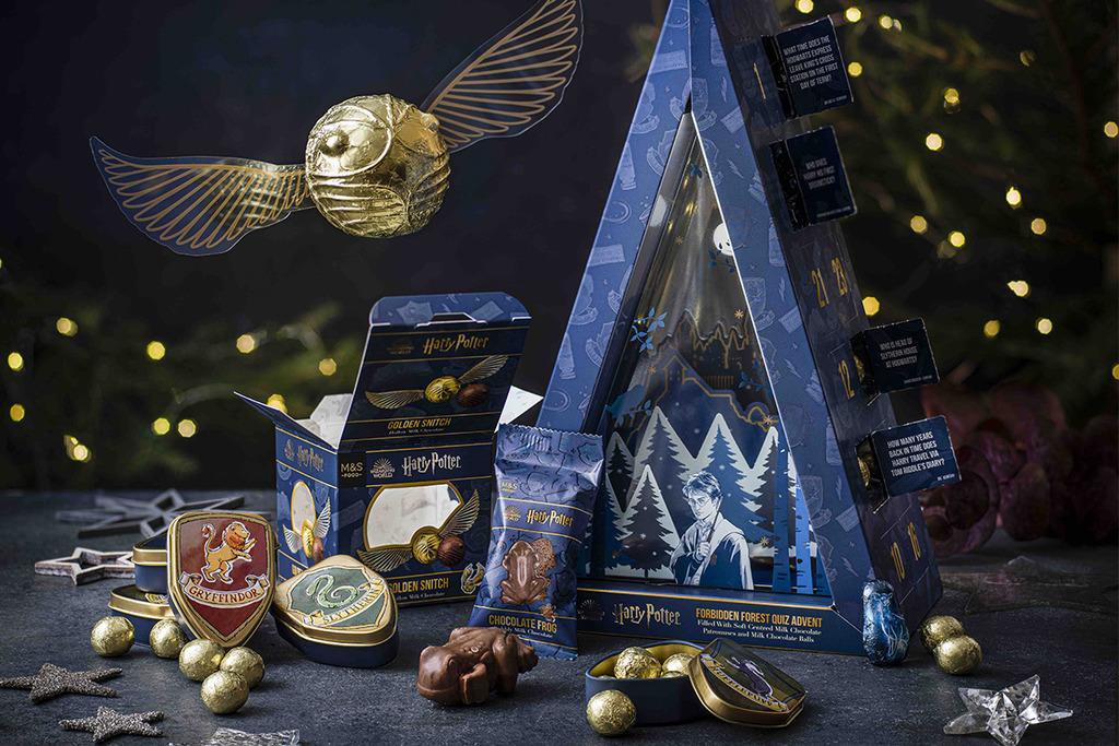 【聖誕禮物2020】馬莎Harry Potter主題系列家品零食 聖誕倒數月曆/魔杖朱古力/學院杯碟