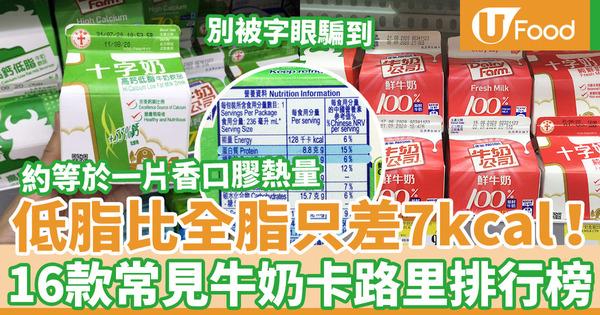 【牛奶卡路里】減肥瘦身人士注意!高鈣低脂與鮮牛奶熱量相距少  16款常見品牌牛奶卡路里排行榜