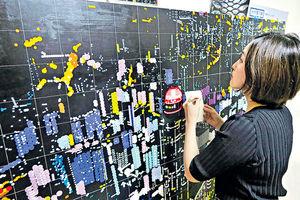 朗豪坊大村雪乃作品展 以貼紙拼出日本地標街景