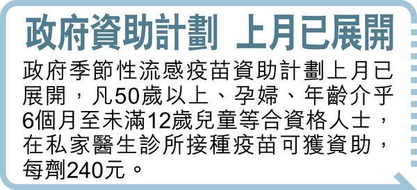 雙疫夾擊可致肺炎惡化 港大籲全民打流感針