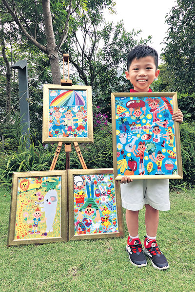 7歲小畫家奪世衞海報比賽冠軍 童趣筆觸暖人心