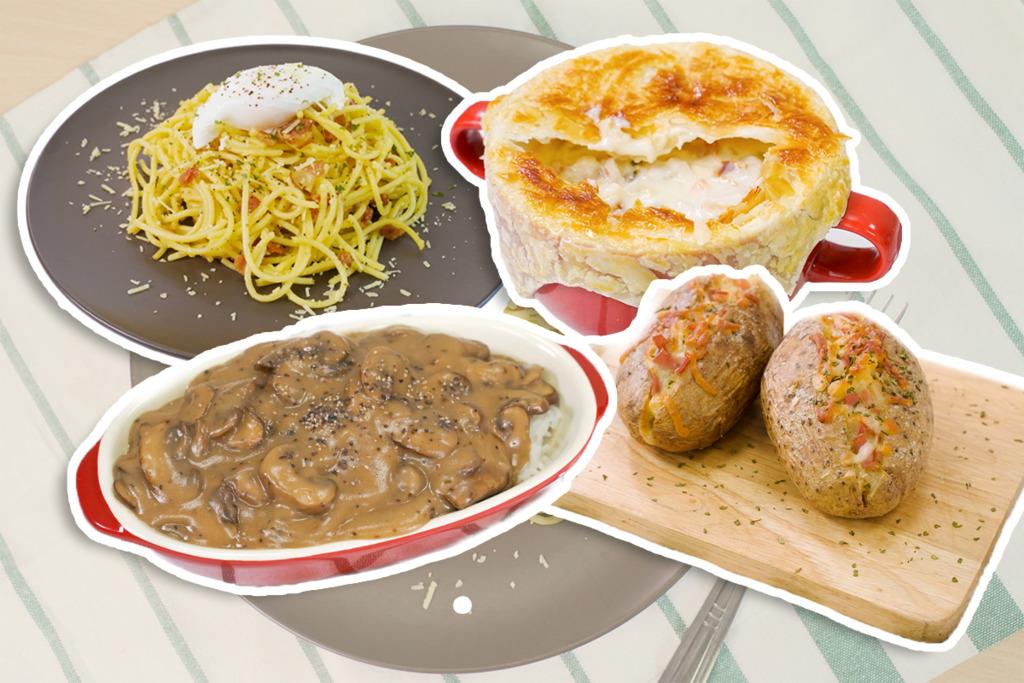 【西餐食譜】6款簡單西式晚餐食譜推介 卡邦尼意粉/周打海鮮湯/芝士煙肉焗薯/白酒忌廉煮青口