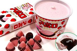【台灣/日本便利店2021】明治草莓朱古力雪糕日台新登場! 士多啤梨雪糕+香濃朱古力醬