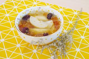 【桃膠食譜】3步養顏秋冬滋潤甜品  桂花雪梨桃膠糖水食譜