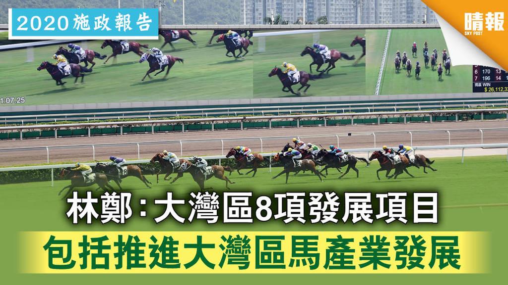 【施政報告】林鄭:大灣區8項發展項目 包括推進大灣區馬產業發展