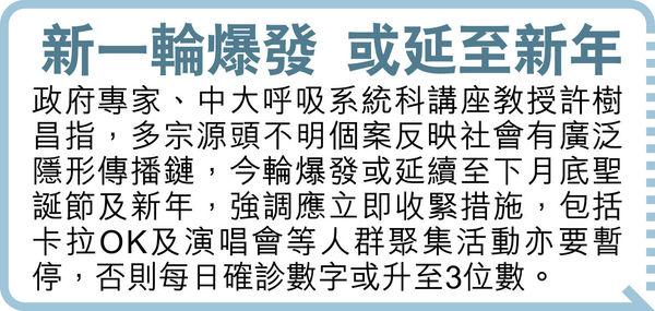 違防疫禁令研加重罰則 指定檢疫酒店 擬要提供3餐