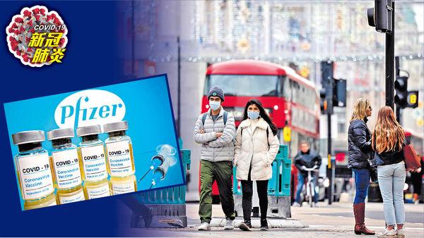 英政府開綠燈 下月或可打輝瑞疫苗 全球確診突破6200萬