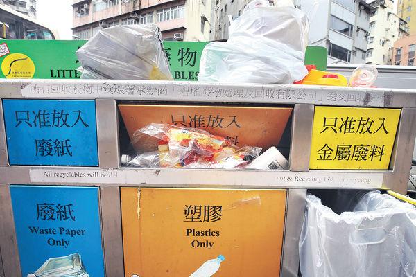 「三色桶」回收成效欠佳 申訴署主動調查