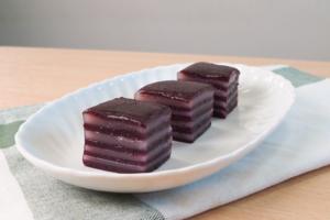 【甜品食譜】零失敗口感Q彈煙韌 紫薯椰汁千層糕食譜