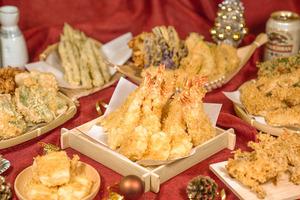 【聖誕到會2020】早鳥75折優惠!日本過江龍天丼店「天吉屋」推出聖誕外賣 軟殼蟹/黑虎蝦等多款套餐