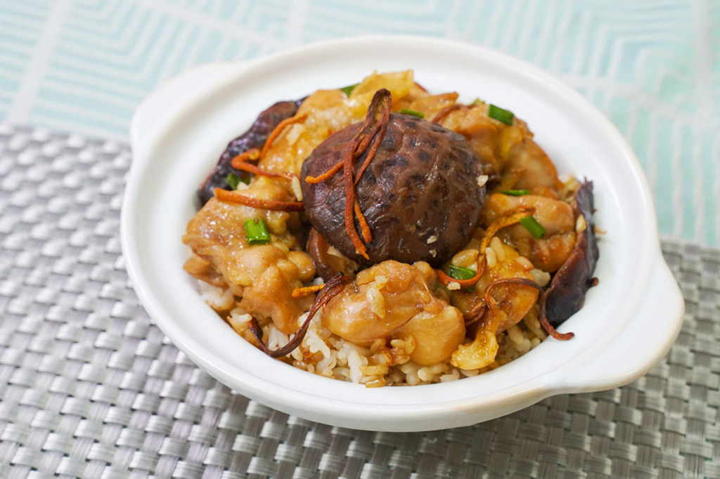 【煲仔飯食譜】3步做法簡單懶人電飯煲食譜  北菇滑雞煲仔飯
