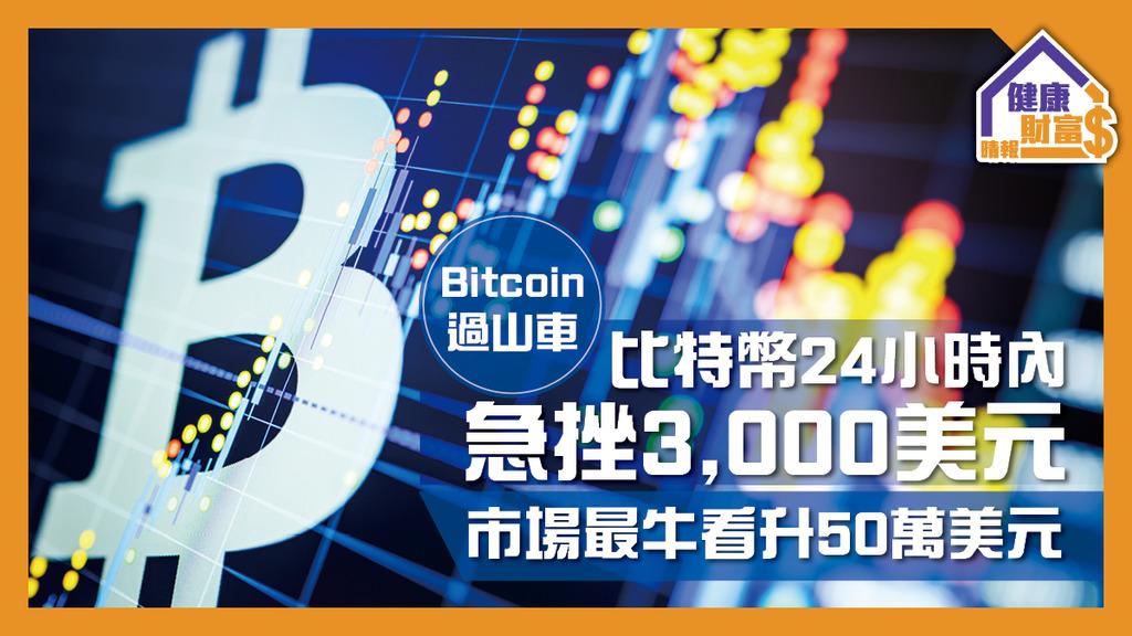 【Bitcoin過山車】比特幣24小時內急挫3,000美元 市場最牛看升50萬美元