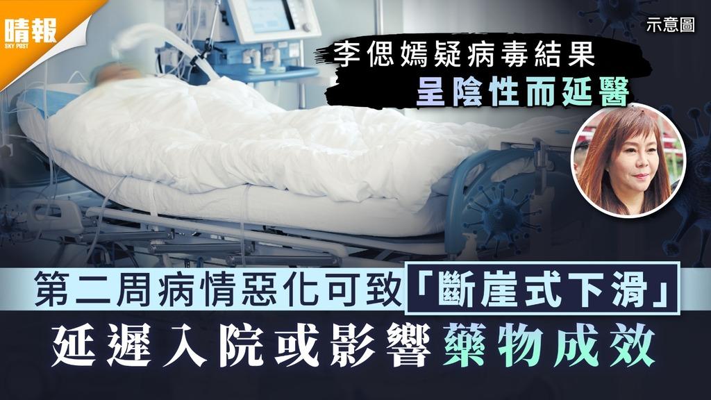 新冠肺炎︳第二周病情惡化可致「斷崖式下滑」 延遲入院或影響藥物成效