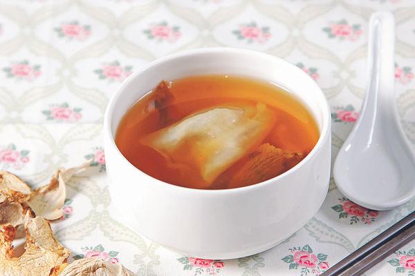 松茸螺頭燉花膠湯(1人分量)